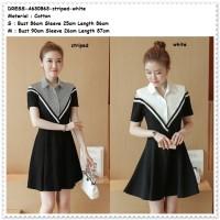 Mini Dress Kemeja Shirt Sabrina Off Shoulder Baju Wanita Korea Import