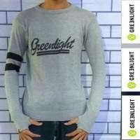 Jaket Pria Sweater Rajut Greenlight Strip Series - Abu Muda
