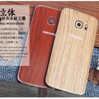 Samsung Galaxy A7 2016 Skin HP Body Protector Garskin Motif Kayu Wood
