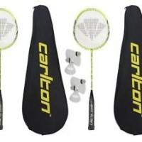 2 x Carlton Razorblade Pro Badminton Rackets 6 Carlton Shuttlecocks