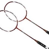 2x Apacs EdgeSaber 10 Red Badminton Racket FREE String and Grip