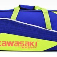 Kawasaki Badminton Round Bag 2 Packs Racket Sports Tennis Backpack Blu