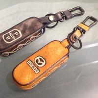 Gantungan kunci kulit mobil mazda 2 cx5 cx3