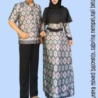 Jual Couple batik sarimbit gamis pesta baju pasangan seragam GSA Murah