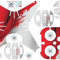 Sticker drone dji phantom 4 Indonesia Flag 2