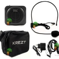 Krezt HDT-3803 NV USB Speaker pinggang Tour Guide & Guru
