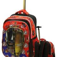 Hot Tas Trolley Anak Sekolah SD Import Avengers Civil War 5d Timbul