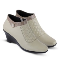 Sepatu pantofel kerja / formal boot wanita kulit [ JC 199 ]
