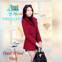Coat Wool Import Wanita Musim Dingin