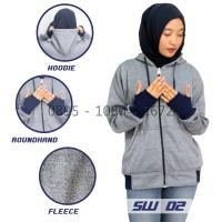 Jual Jaket Distro Wanita | Sweater Roundhand Navy Terkini (SW 02) Murah