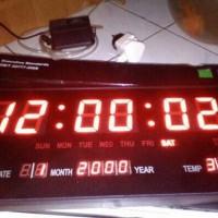 jam digital led dingding angka merah