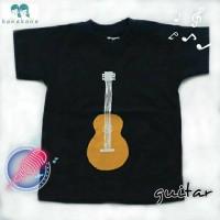 kaos anak tshirt by Kanakana gambar alat musik petik gitar guitar kids