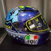 Helm AGV Corsa Misano 2015 Shark Valentino Rossi Size XXL Asia Fit