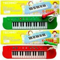 Mainan Edukasi Anak - Piano Techno Musik Mic Karaoke 26 Melodi Lagu