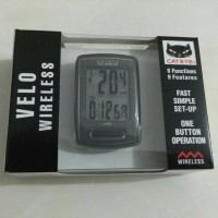 Speedometer sepeda cateye velo wireless hitam
