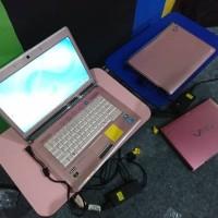 Fujitsu LH700 core i3 ram 4gb Nvidia laptop murah warna pink