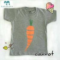 kaos anak tshirt anak Kanakana gambar wortel carrot