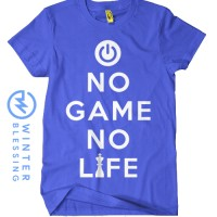 Baju Kaos NGNL Anime No Game No Life Logo Biru