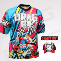 Kaos Motor Drag Bike Full Print - Kaos Balap