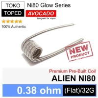 Harga authentic avocado alien ni80 coil 0 38 ohm glow series rda rdta | Hargalu.com