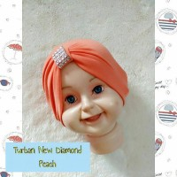 turban bayi anak model kristal bahan kaos