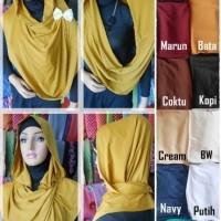 Hijab Instan Polos Model Kalung Melingkar