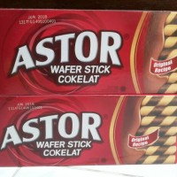 original astor chocolate wafer stick coklat stik asli 150gr