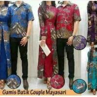 Jual Termurah Couple Batik Gamis Mayasari Murah