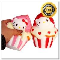 Squishy Jumbo Hello Kitty Cupcake HK Squihsy Murah Promo