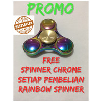 Jual iridescent original rainbow Fidget spinner Murah