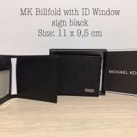 Michael Kors Men Wallet Bifold with ID Window sign black