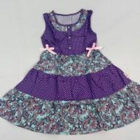 Dress Anak Import - Little Fairy 7 (Dress Pita Purple Polka)