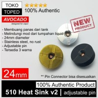 Harga authentic avocado 510 heat sink v2 24mm stainless steel 24 rda | Hargalu.com