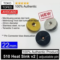 Harga authentic avocado 510 heat sink v2 22mm stainless steel 22 rda | Hargalu.com