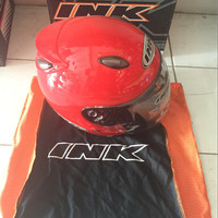 Helm INK Jet Centro Merah/ Fire Red Original 100% Asli Ready Size M