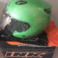 Helm INK Jet Centro Apple Green/ Hijau Original 100% Asli Ready size M