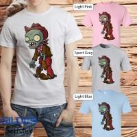 Baju kaos Game gildan lucu animasi Plant vs zombie 07