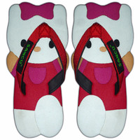 Jual Sandal Sancu Boneka Hello Kitty Merah Termurah Jepit Harian Simpel Murah