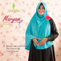 jual khimar motif polos jilbab maryam series