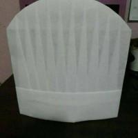 termurah.. topi koki / cook hat non woven viscose tinggi 30cm