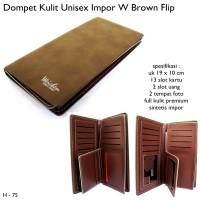 Dompet Pria Weichen Wallet Leather Kulit Flip Brown