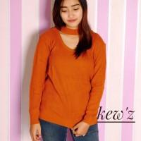 grosir baju murah/baju atasan/Baju Rajut / Jasmine Vee Sweater