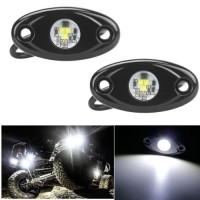 2 Pods White Led Rock Light CREE Under Car Lights for 4X4 ATV Truck Je