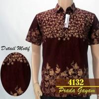 4132 kemeja hem batik Prada Gayam murah grosir seragam batik