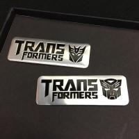 Tempelan Stiker Emblem Mobil Aluminium Transformers Tranformers