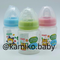 Jual Botol Susu Wide Neck 150 ml Zippy BPA FREE + 2 Dot Peristaltik OK-11 Murah