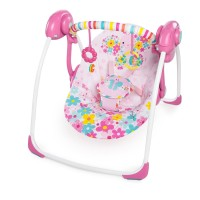 Bright Starts Pretty in Pink Butterfly Cutouts Portable Swing /Bouncer