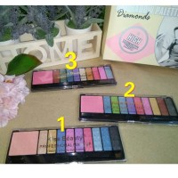 KISSBEAUTY DIAMOND EYESHADOW BLUSHER PALLETEE