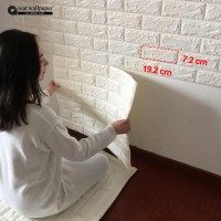 3D wall stickers wall brick pattern self-adhesive wallpaper bedroom li