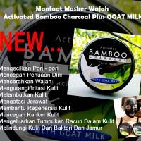 Jual Masker Wajah Activated Bamboo Charcoal plus susu kambing Murah